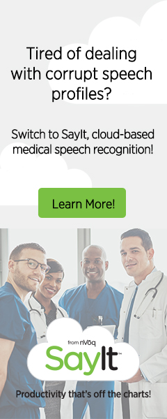 Medical Speech Recognition By SayIt